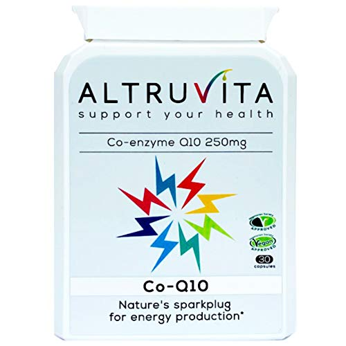 Altruvita CoQ10 | Co-Enzyme Q10 250mg |30 Days Supply| Natures Biochemical Spark Plug | Boost Energy Production | UK Product | 30 Capsules