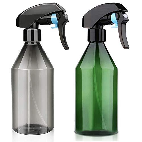 Botella de Spray Vacías de Plástico (2 PCS), plástico de Botellas del Aerosol, Botellas del Aerosol, Pulverizador Agua de Gatillo, Bote Spray Pulverizador para Plantas, Limpieza, Cocina (300ML)