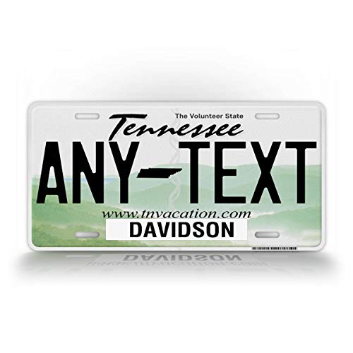 SignsAndTagsOnline Custom Tennessee License Plate Any Text Personalized Volunteer State TN Metal Auto Tag
