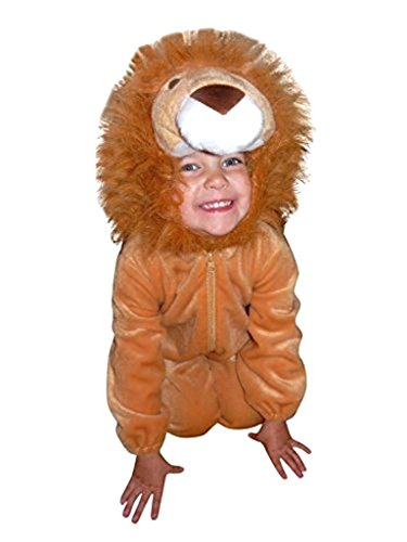 Ikumaal Löwen-Kostüm, F57 Gr. 110-116, für Kinder, Löwe Tier-Kostüme für Fasching Karneval Fasnacht, Kleinkinder-Karnevalskostüme, Kinder-Faschingskostüme, Geburtstags-Geschenk Weihnachts-Geschenk