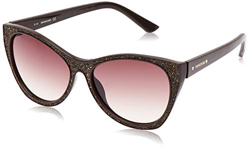 Swarovski Sonnenbrille SK0108 5948F Gafas de sol, Marrón (Braun), 59 para Mujer