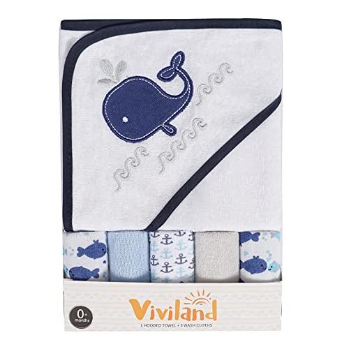 Asciugamano e salviette da bagno con cappuccio per bambini,...