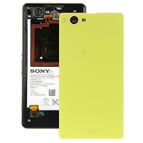 Pieza de reemplazo del teléfono Celular Cubierta de batería de reemplazo for Sony Xperia Z1 Mini Accesorios telefonicos (Color : Amarillo)