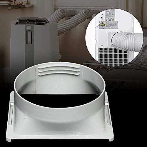 SHOH Schnittstelle Für Tragbare Klimaanlagen-Abluftkanäle - 15cm Durchmesser ABS Abgasschlauch Schlauchverbinder - Mobile Klimaanlage Fenster Adapter Teil Zubehör(Quadratische Form)