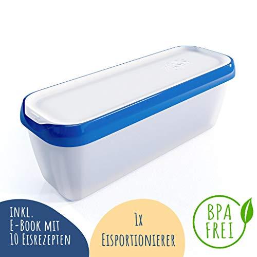 Zwin® Eisbehälter 1,5 Liter - Portionierbehälter - mit Eisportionierer - Ideal für selbstgemachtes EIS - BPA frei - Zubehör Speiseeis