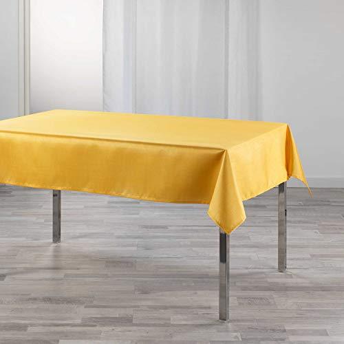 TIENDA EURASIA® Mantel Antimanchas Rectangular de Mesa - 150 x 240 cm - Fabricado en 100% Polyester - Lavable a 30°C (Mostaza)