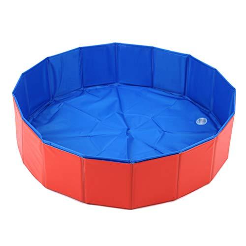 Balacoo 80 * 30Cm Pieghevole Pieghevole in PVC per Cani Piscina per Bambini Pieghevole Cucciolo da Bagno Nuoto Vasca da Bagno per Cani Gatti