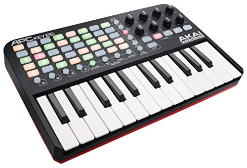 AKAI Professional APC Key 25 | USB MIDI Keyboard Controller featuring 25 Piano Style Keys, 40 Buttons and 8 Assignable Encoders, for Ableton Live