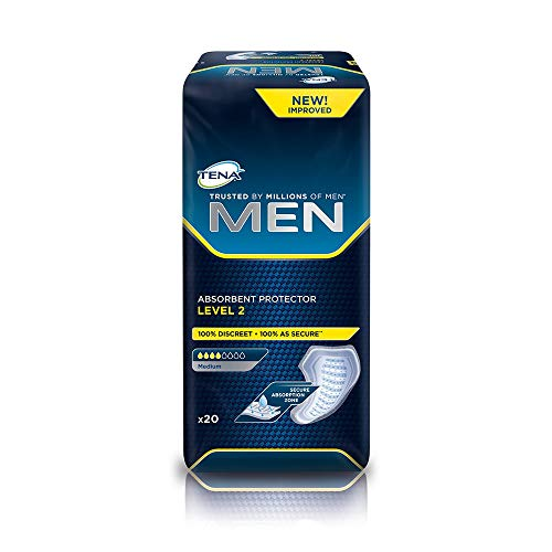 TENA For Men Level 2 Einlagen - 5 Packungen / 5 x 20 = 100 Stück