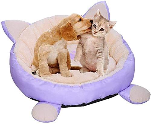 KKGASSAB Cama para Mascotas, Pet Nest Universal Four Seasons, Desmontable y Lavable para el Perro/Gato Cama de Perro Peluche cálido y cómodo Gato sofá l (Size : Medium)