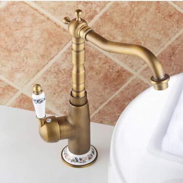 VIOYO waterkraan van messing van hoge kwaliteit voor de keukenkraan badkamer & keuken met handvat van keramiek