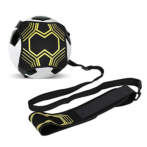Soccer/Volleyball/Rugby Trainer, Solo Practice Training Aid Control Skills Adjustable Waist Belt for Kids and Adults Football Kick Trainer, Soccer Training Belt