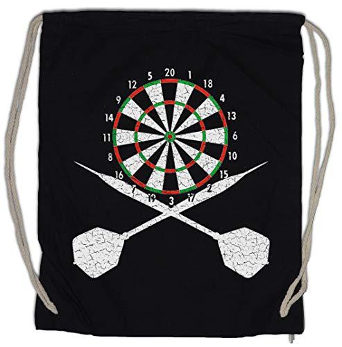 Urban Backwoods Darts Board and Crossed Darts Turnbeutel Sporttasche