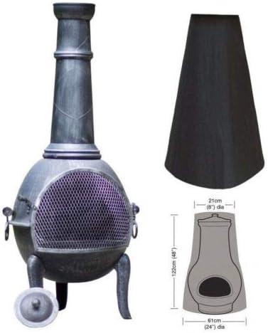 Housse de cheminée d'extérieur imperméable 210D Oxford résistant pour Le Chauffage de Jardin Protection UV Grand Foye...