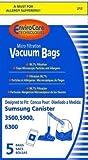 Samsung Type VP-95 & VP-95B EnviroCare Vacuum Cleaner Bags / 5 packGeneric w/Dust Seal OEM: XSM601
