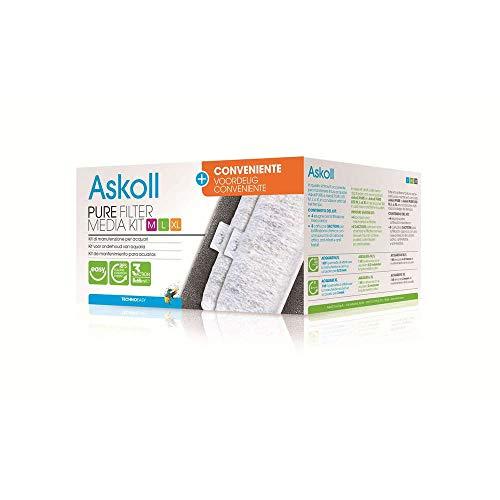Askoll Ac350014 Pure Filter Media Kit + Conveniente con Cartucce 3Action, XL