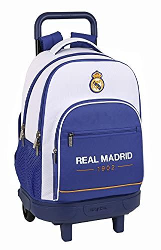 Safta MOCHILA GDE. C/RUEDAS COMPACT EXTRAIBLE REAL MADRID 1ª EQUIP. 21/22, Multicolor, M