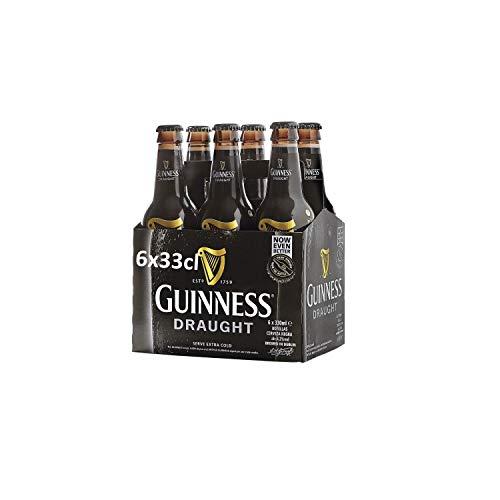 Guinness Draught Cerveza, Pack de 6 x 330ml