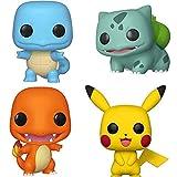 liuyb 4 Unids / Set Pokemon Squirtle Charmander Bulbasaur Pikach Vinilo Figura De Acción Muñecas Juguete Anime Pokemones Figura Linda Juguetes Regalos 10-12Cm