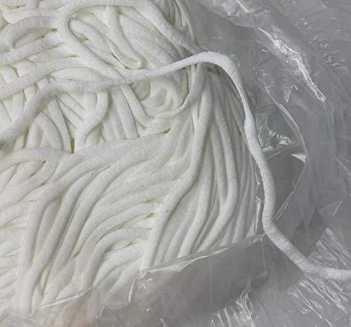 Aiyow Wit elastisch koord voor rekbaar lintkoord voor het maken van sieraden, elastische spoel in dik rekbaar breisel, gevlochten elastiek.3.8mm100m