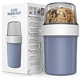 JIM'S STORE Taza para Cereales para Llevar sin BPA Vaso Portayogurt Práctico Apto para Fruta Yogur...
