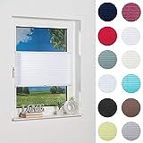 K-home Klemmfix-Plissee Weiß 40 x 130 cm Lichtschutz +++ Moderne