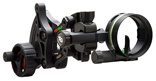 """TRUGLO RANGE-ROVER Series Single-Pin Moving Bow Sight, Black, Right-Handed, .019"""" Pin, Toolless Micro-Adjustable Windage"""