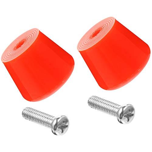 Abaodam 4 tapones de goma para los oídos, bloqueo de freno con tornillos para quads, patines y patines