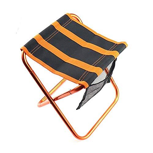 T-ara Suave y confortable Al aire libre silla de pesca plegable 100 kg de gran capacidad for acampar asiento de aleación de aluminio heces heces pesca silla de camping portátil barbacoa taburete silla
