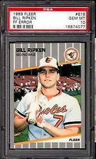 Bill Ripken F**K FACE error card PSA 10 1989 fleer
