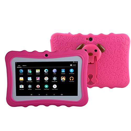 HJGHY Tableta para Niños de 7 Pulgadas, Android 4.4 Core, 512MB + 4GB, WiFi, Educativo, Juegos, Control Parental, Software para Niños Preinstalado (Estuche Gratuito para Tableta para Niños),Rojo