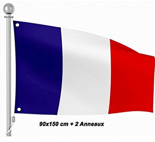 DRAPEAU FRANCE 90 X 150 CM FETE AMBIANCE