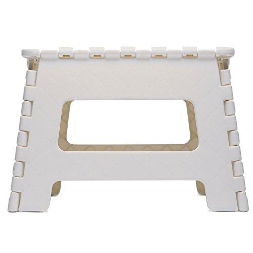 step stool Pequeño Taburete Plegable Multiusos de plástico de fácil Almacenamiento