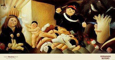 Fernando Botero Poster Kunstdruck Bild Massacre de los inocentes (Detail 1) 52x98cm