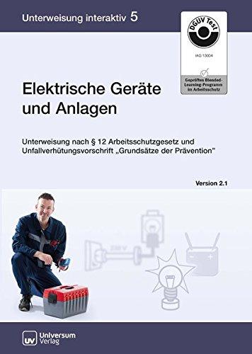 Elektrische Geräte und Anlagen, CD-ROMUnterweisung nach 12 Arbeitsschutzgesetz und Unfallverhütungsvorschrift