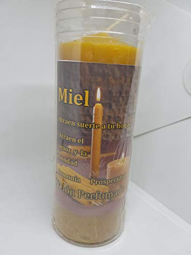 Qaromas Velón Esotérico 13x6 cm Miel - Honey -300g - Esoteric Handle