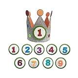 Maxi Nona Corona para cumpleaños o Fiestas Infantiles con números del 1 al 9 (Círculo