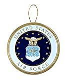Allied Products Air Force Heroes Series Holiday Ornament - Officially Licensed Air Force Medallion - Die-cast Metal and Gold Plating