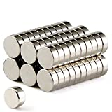 FINDMAG 50Pcs Magnets Push Pins,Fridge office Magnets, Dry Erase Board Magnetic pins, Whiteboard Magnets,Refrigerator Magnets-8x3mm