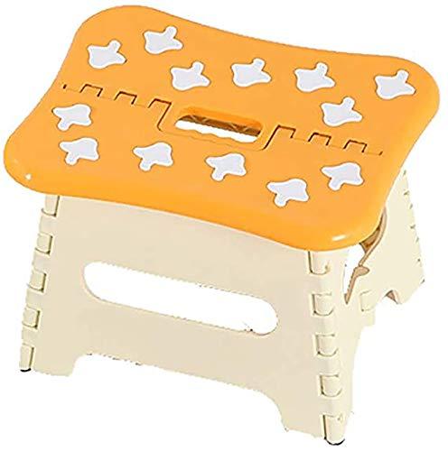JHSHENGSHI Sillas Plegables al Aire Libre, 1 Pieza Silla Plegable pequeña Sillas de plástico Taburete para pies Cocina Jardín Baño Inodoro Portátil al Aire Libre Senderismo, sillas Plegables ca