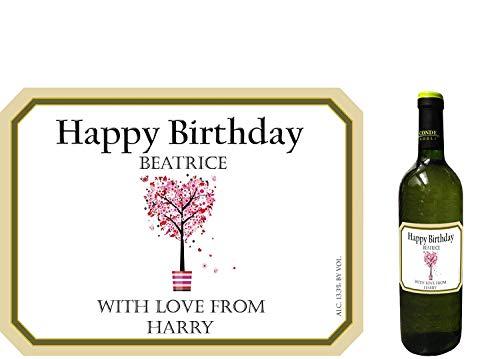 Party People 1 x Etiqueta DE Botella DE Vino Personalizada. Cualquier Nombre Y Mensaje (DISEÑO 3)