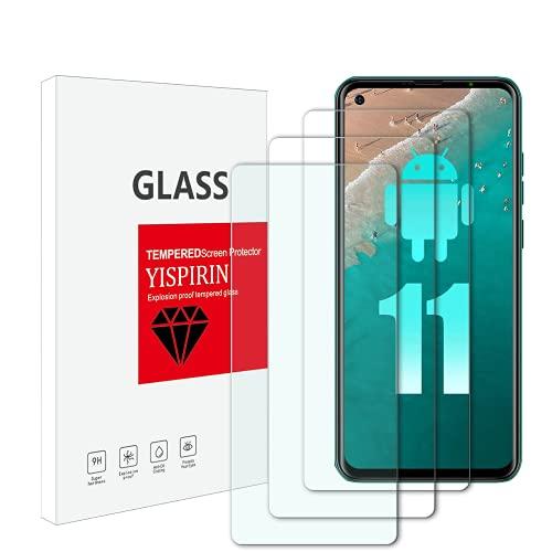 YISPIRIN Protector de pantalla de cristal templado para Ulefone Note 11P, dureza...