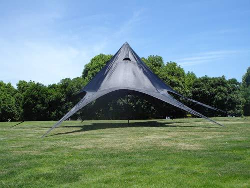 CLP Sternzelt 10 Meter I Event-Zelt Mit 10 Meter Durchmesser I Gartenzelt In Vielen Farben | Überdachte Zeltfläche Von Ca. 15 M², Farbe:schwarz