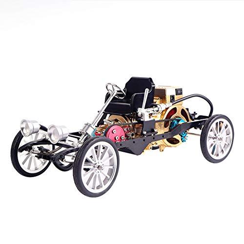 TETAKE Motor Bausatz 230-teile Selbst Bauen Ganzmetall Automodell 1 Zylinder Motormodell Montagemodell Spielzeug für Technikinteressierte