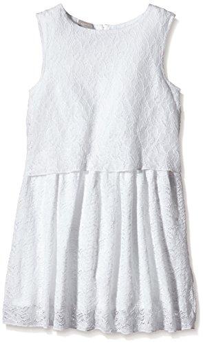 name it Mädchen Kleid festlich mit Spitze nitGLOKweiß (128)