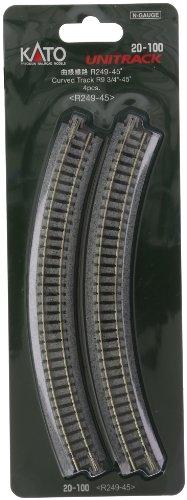 KATO Nゲージ 曲線線路 R249-45° 4本入 20-100 鉄道模型用品