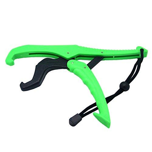 Ukallaite Tragbarer Floating Fisch Lip Grip Mini Fresh Salz Wasser Angeln Halterung Zubehör, grün, 25 cm