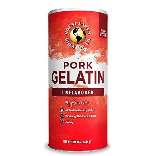 Great Lakes, Pork Gelatin, 16 Oz Can, Paleo-Friendly, Keto Certified, Gluten Free, Non-GMO