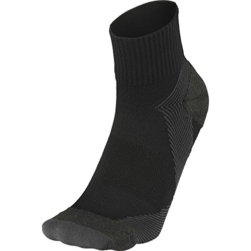 C3fit Arch Support Quarter Socks, Black (Medium)