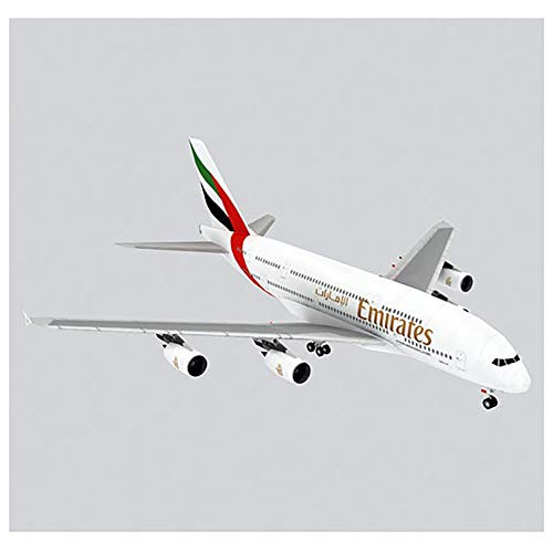 Lllunimon 1/300 Airbus A380 Civil Airliner Modely Kit, 3D Puzzle Origami Aircraft Modelo DIY DIY Hecho a Mano Regalo Militar,Emirates
